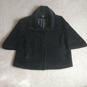 Eileen Fisher Wool/ Alpaca black coat size L.